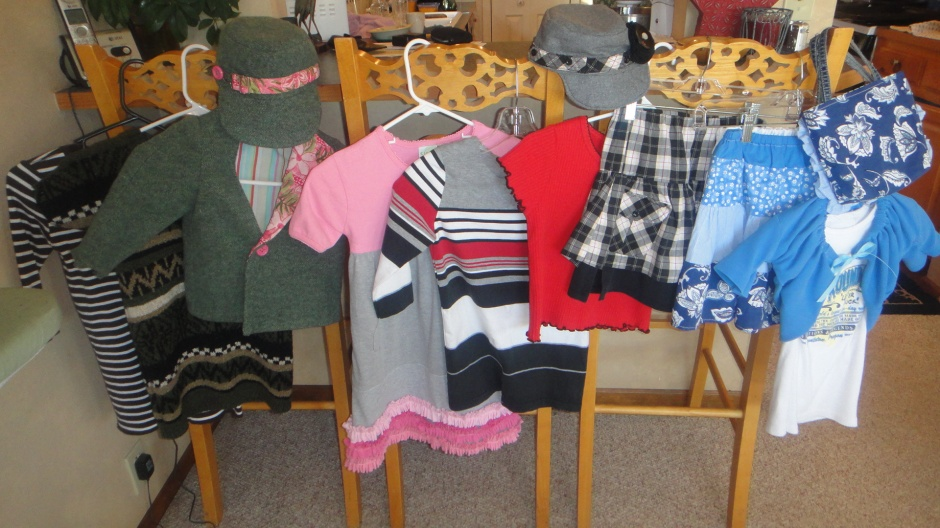 Refashioned upcycled children's clothes
