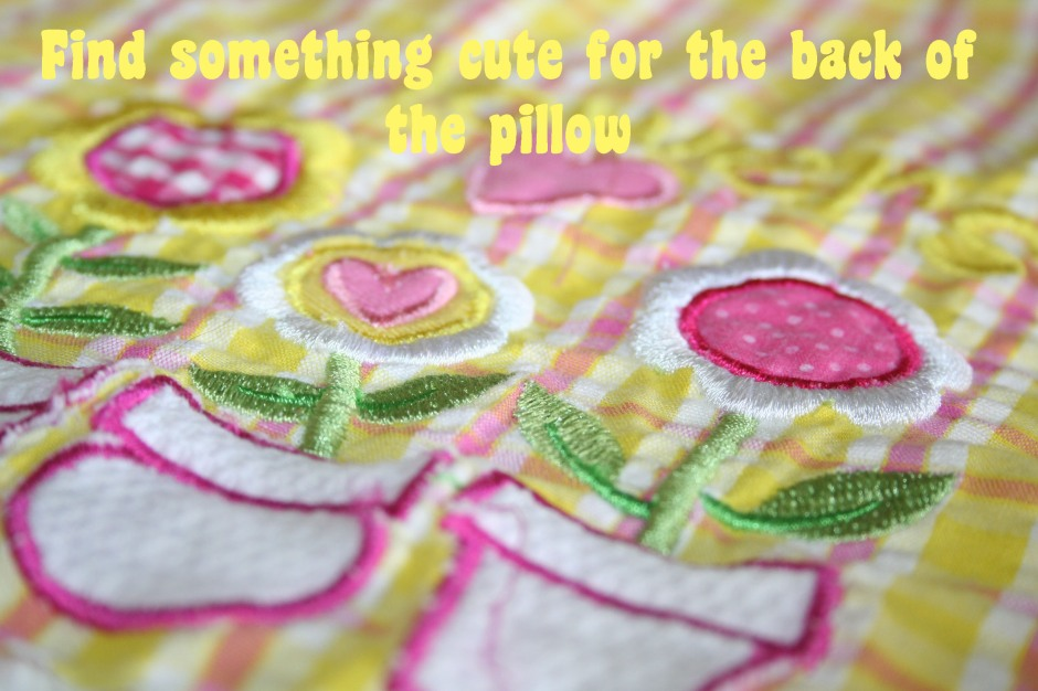 DIY chenille applique pillow tutorial