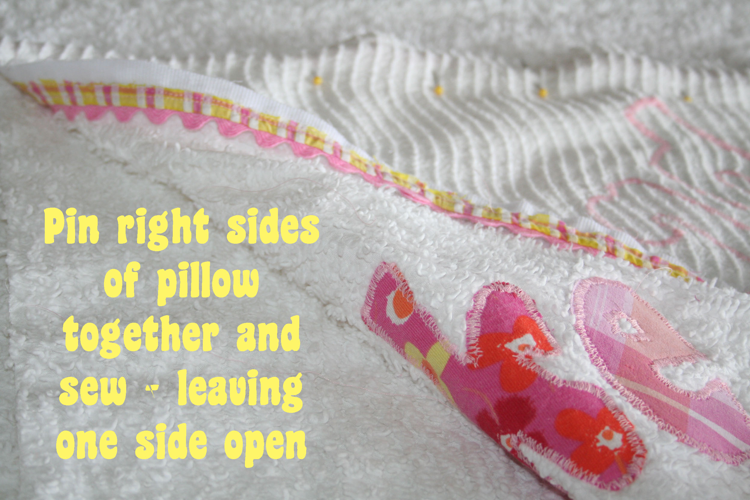 how to make chenille letters