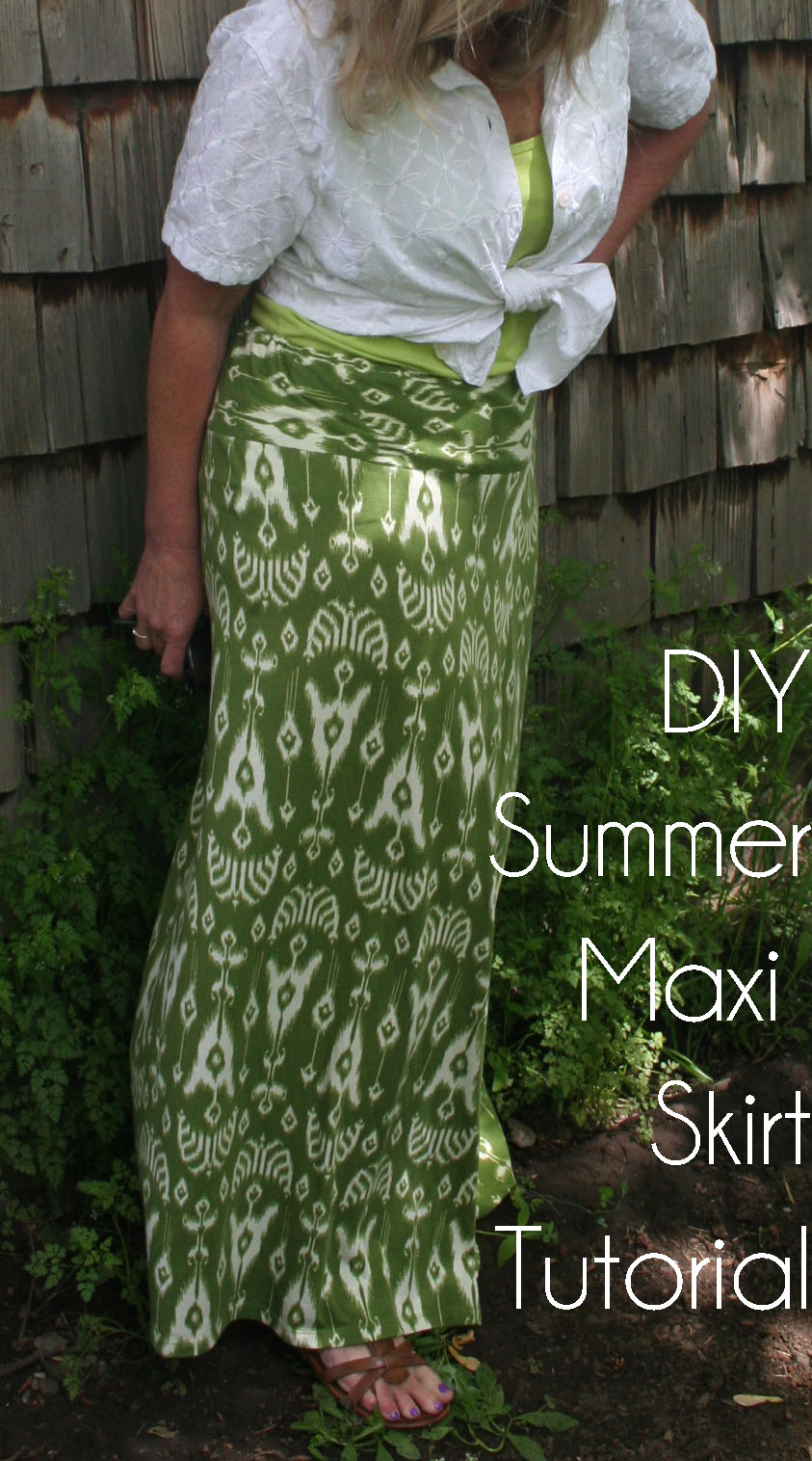 DIY Summer Maxi Skirt Refashion Tutorial | The Renegade ...