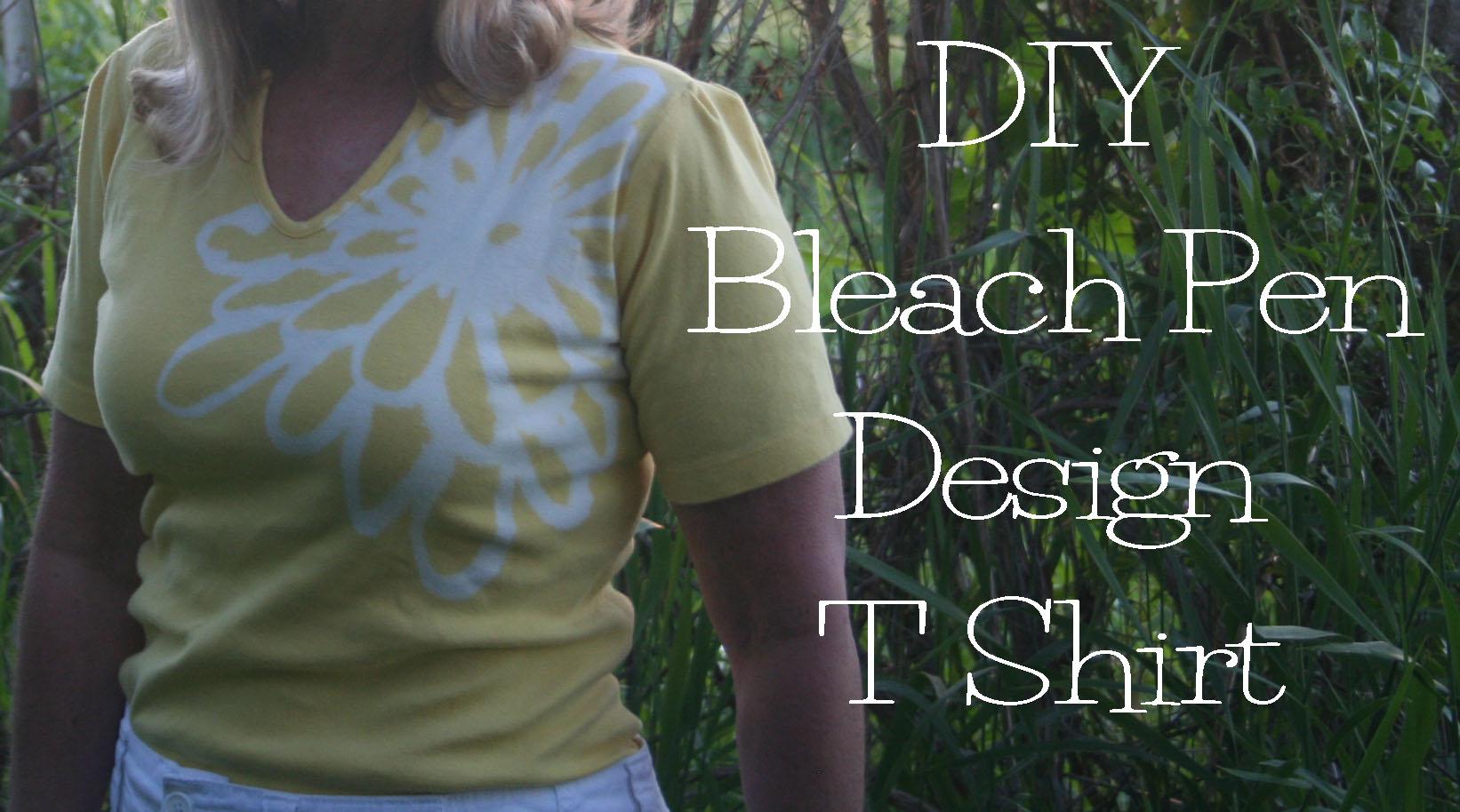 Diy bleach pen t shirt design the renegade seamstress for How to bleach part of a shirt