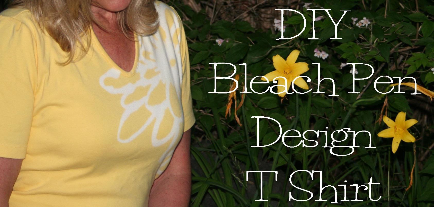 Diy bleach pen t shirt design the renegade seamstress for How to bleach at shirt
