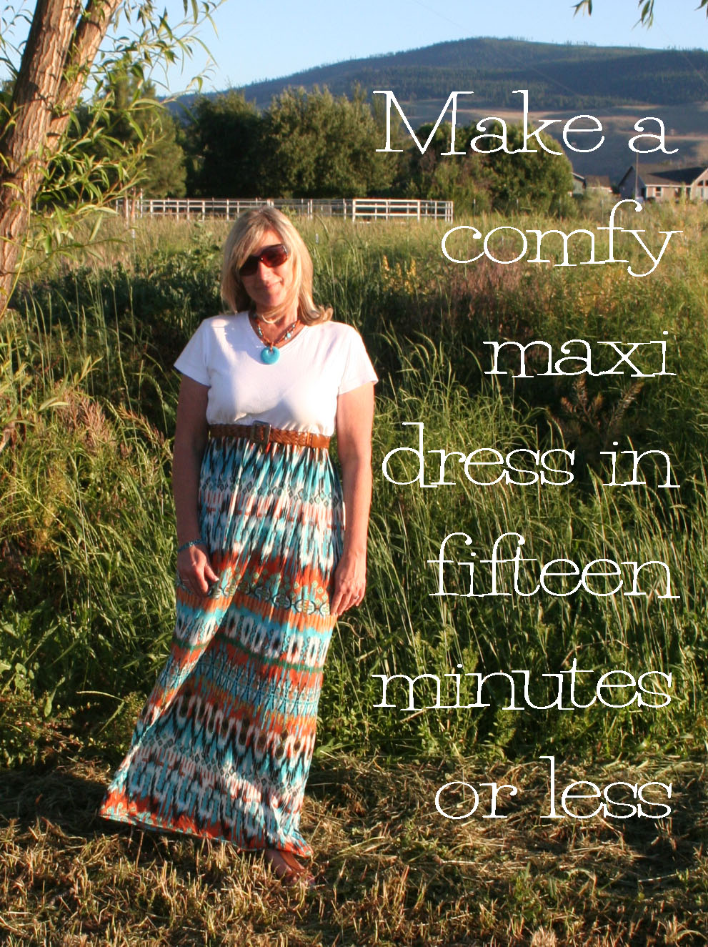 T-shirt maxi dress patterns