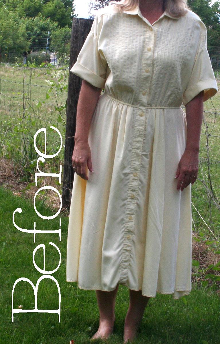 diy 1950s shirt dress refashion tutorial the renegade