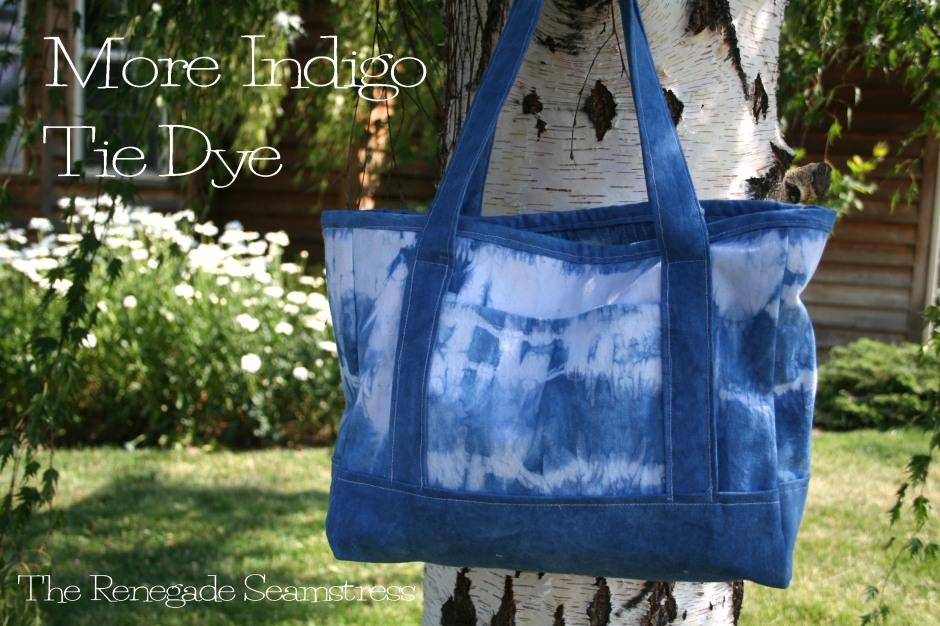 DIY Indigo Tie Dye Tote Bag