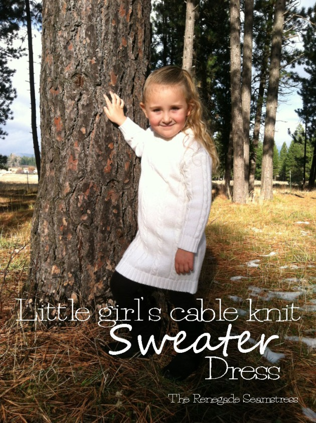 Cable knit sweater dress refashion tutorial