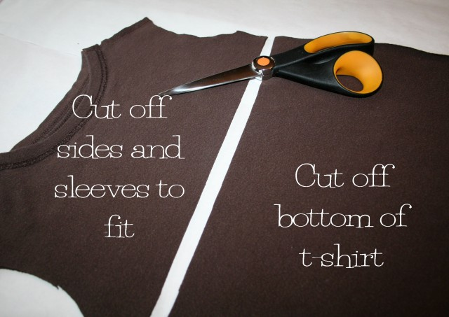 how to cut sleeves off t shirt girl