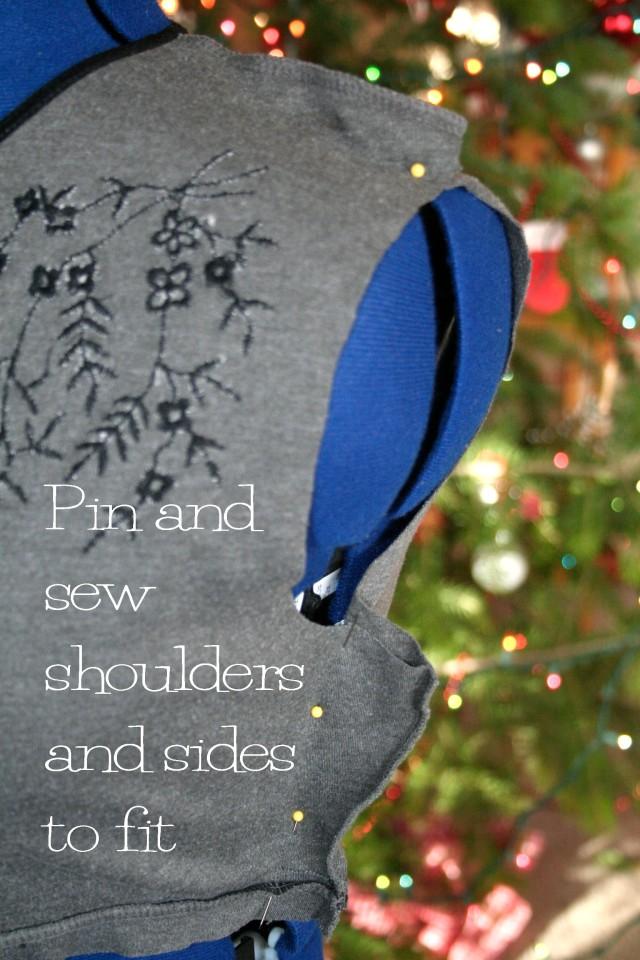 DIY Peplum T Shirt Refashion Tutorial5