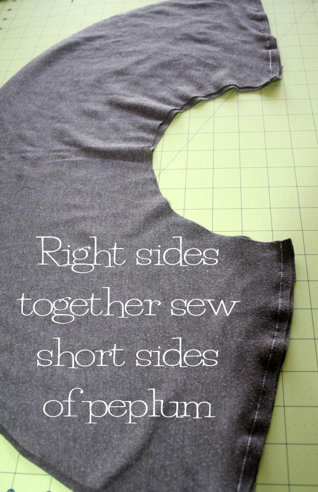 DIY Peplum Shirt Refashion Tutorial