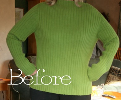 Pullover to cardigan refashion tutorial