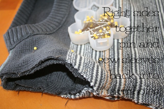 Refashioned Sweater Dress Tutorial