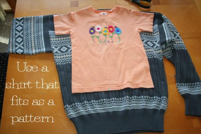 Refashioned Sweater Dress Tutorial