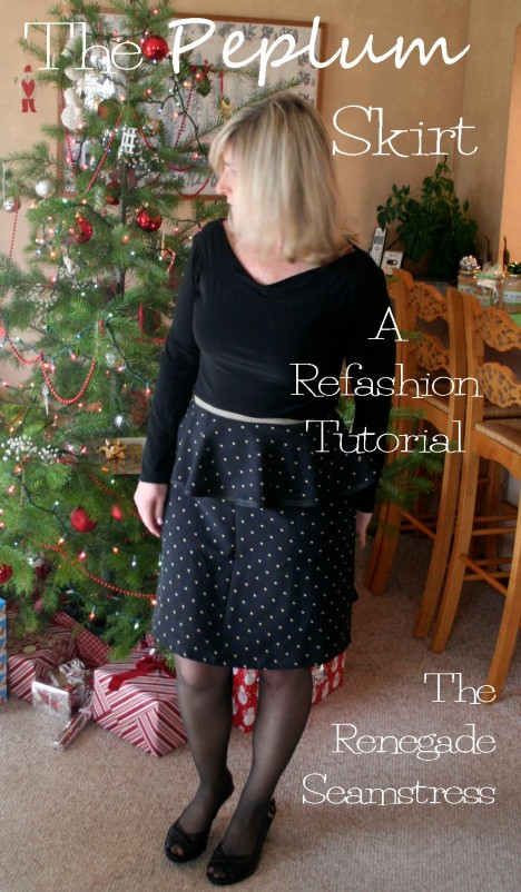 The Peplum skirt Refashion Tutorial