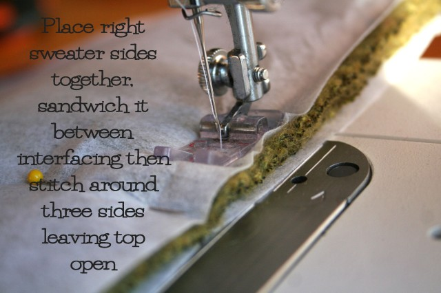 Learn how to refashion an old sweater into a tote with this easy to follow photo tutorial from The Renegade Seamstress