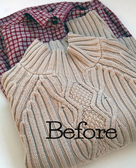 Upcycle a thrift store sweater with this easy to follow photo tutorial by the Renegade Seamstress