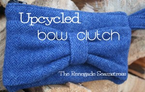 Upcycled Wool Bow Clutch