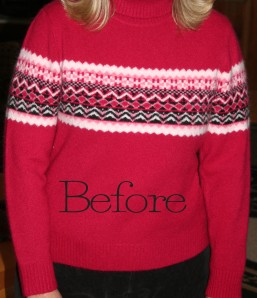 Upcycled Thrift Store Sweater for Valentine's Day