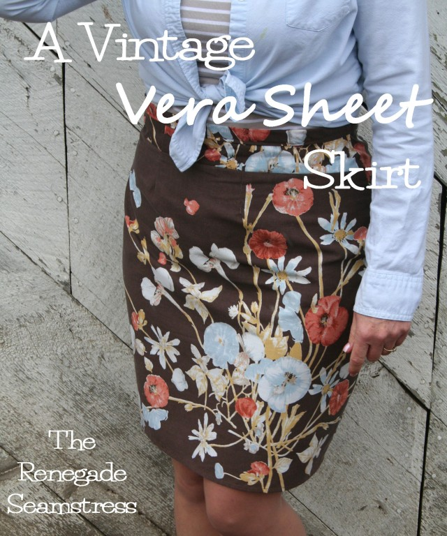Vintage Vera Sheet Set Upcycled to a Skirt