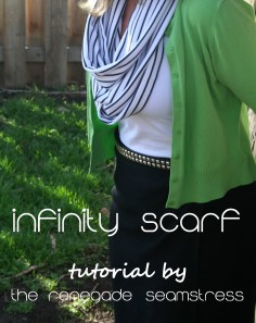upcycled striped infinity scarf