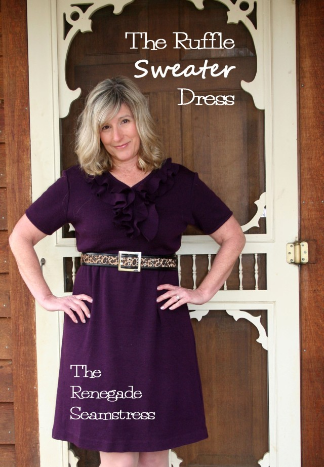 The Ruffle Sweater Dress