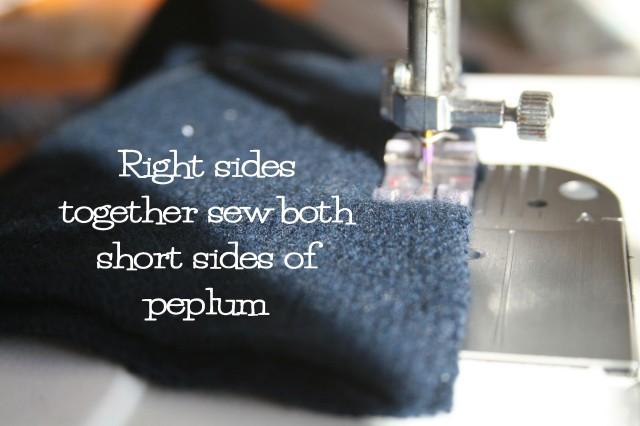 upcycled cashmere peplum