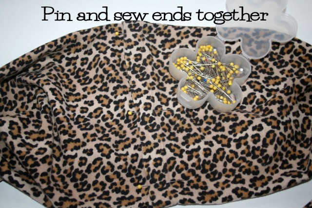 Upcycled Flannel Leopard Print Infinity Scarf