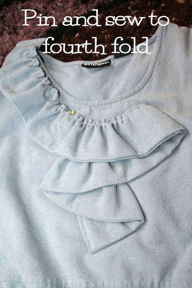 Upcycled Gray Silk ruffle dress