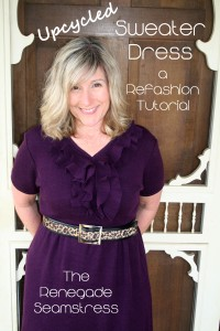 Upcycled Ruffle Sweater Dress