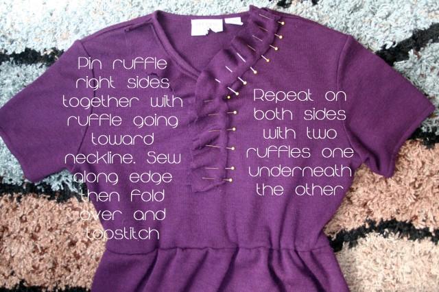 Upcycled Ruffle Sweater Dress14