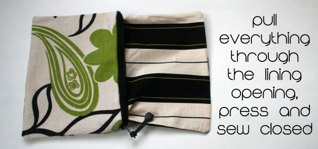 Easy zippered pouch tutorial