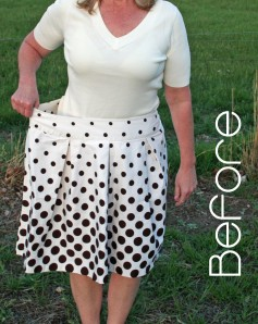 Polka Dot Shirt Refashion