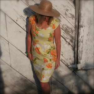 Kentucky Derby Dress From a Vintage Vera Tablecloth
