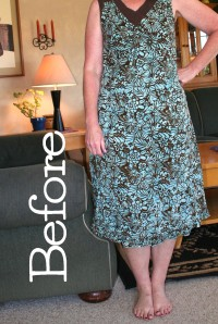 No sew dress refashion