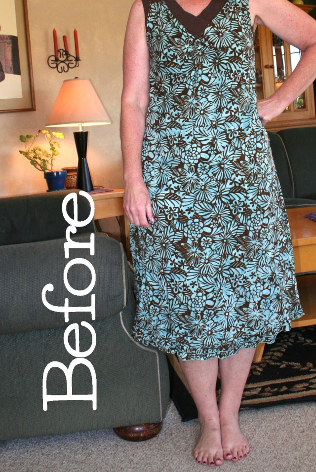 No sew dress refashion