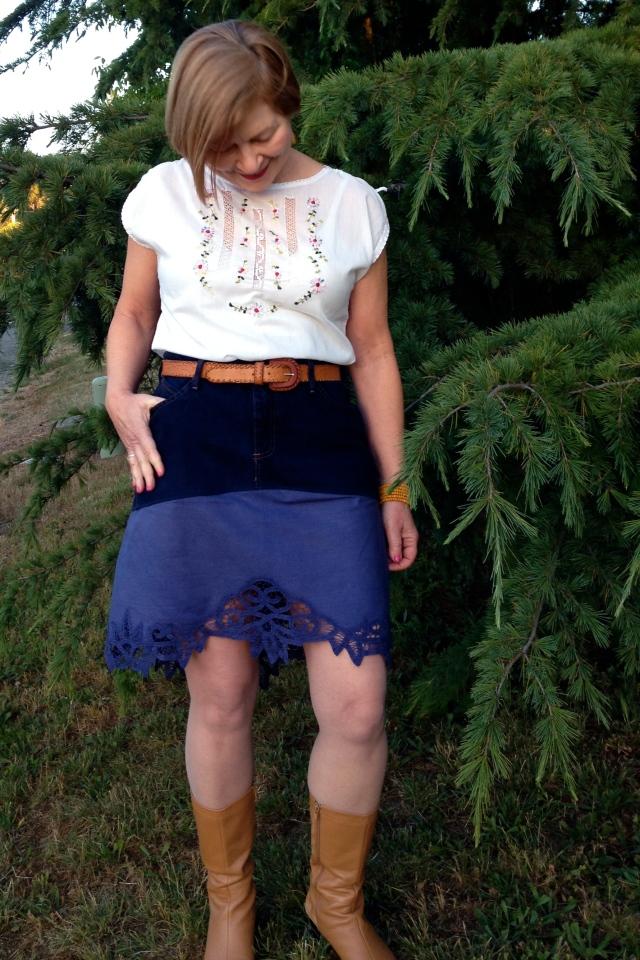 denimlace skirt