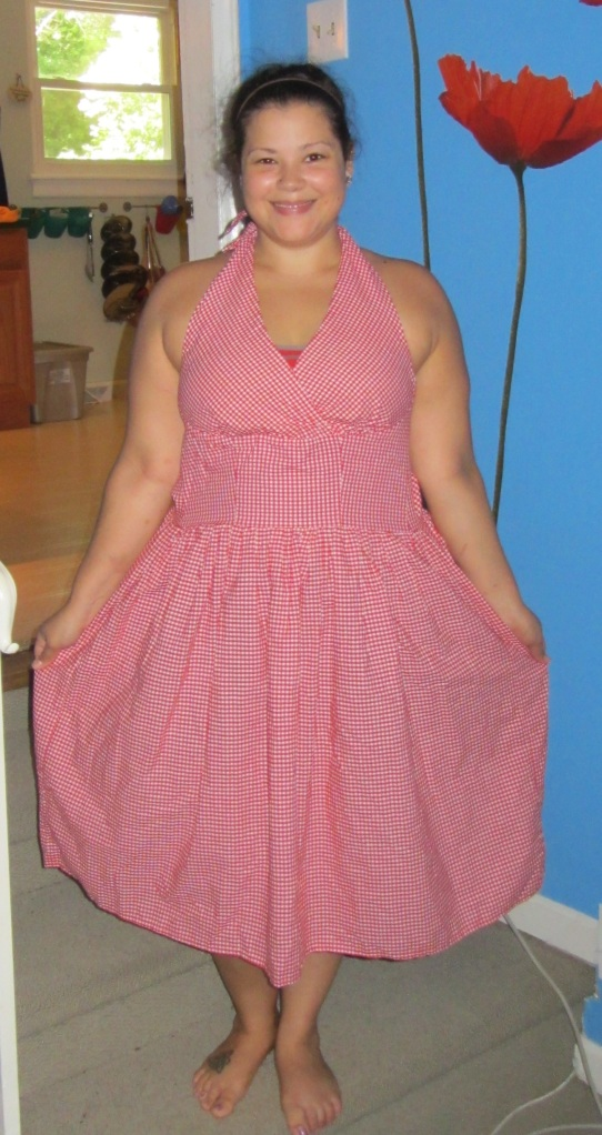 gingham dress refashion