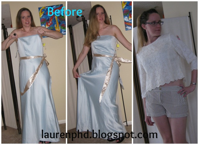 blue dress before