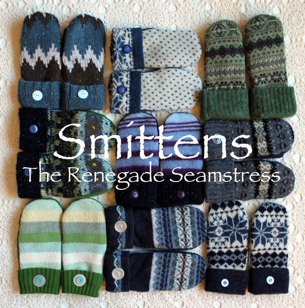 Instructions for Sweater Mittens by the Renegade Seamstress