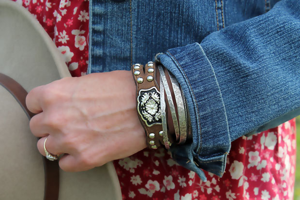 DIY Western Inspired Leather Belt Bracelet and DIY Cropped Denim Jacket