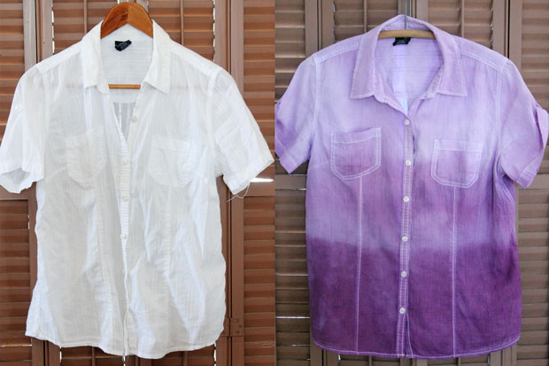 DIY-dip-dye-ombre-shirt-before-and-after
