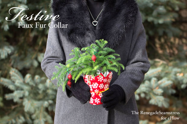 how to make a faux fur collar