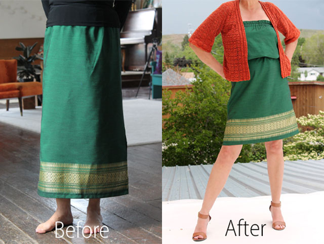 Skirt-to-dress-before-and-after