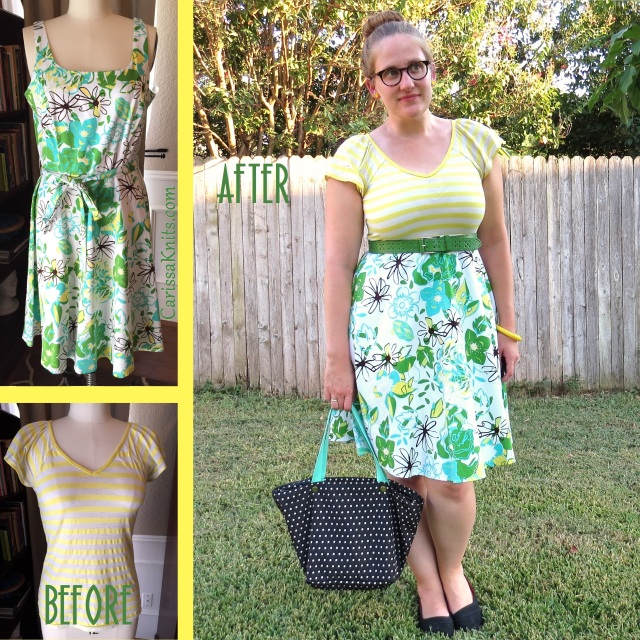 Floral and Stripes - CarissaKnits