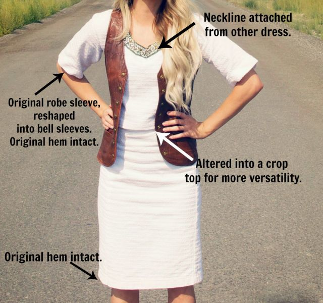 boho outift robe diagram