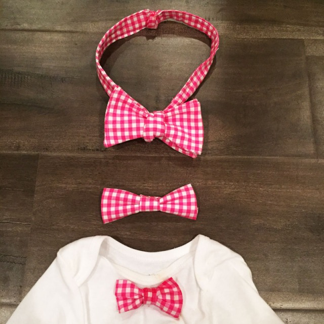 gingham bowties