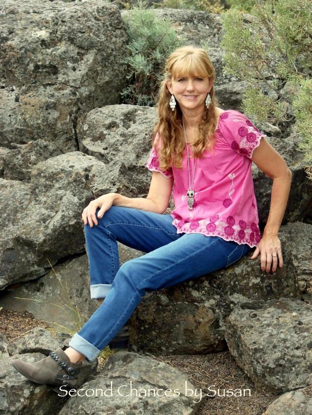 sitting w_ pink shirt