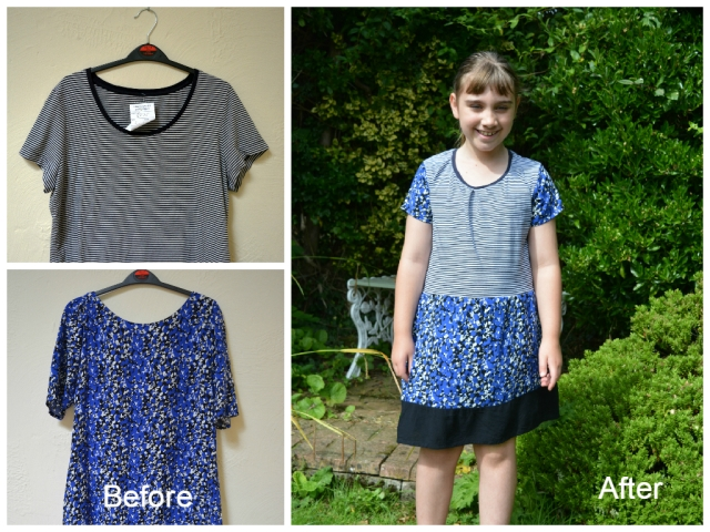 T Shirt to Dress Refashion