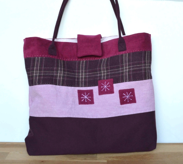 Upcycled Large Tote by VickyMyersCreations