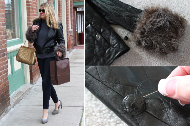 DIY faux fur removable cuffs