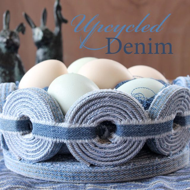 Upcycled Denim Easter Basket